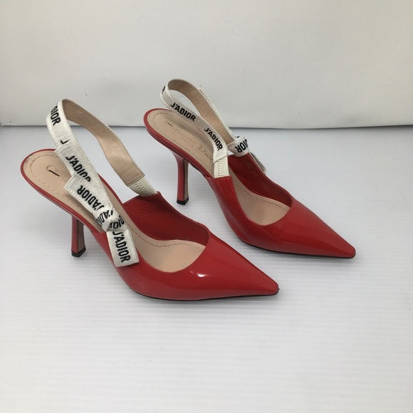 b83a32ca052 Dior Shoes - Dior Paris J Adior Red Patent Calfskin Pumps 😍